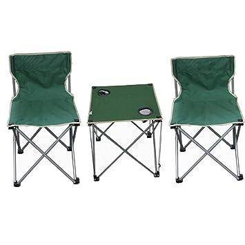 Alf Mesa y Silla de Camping Mesa de Picnic Plegable con 2 ...