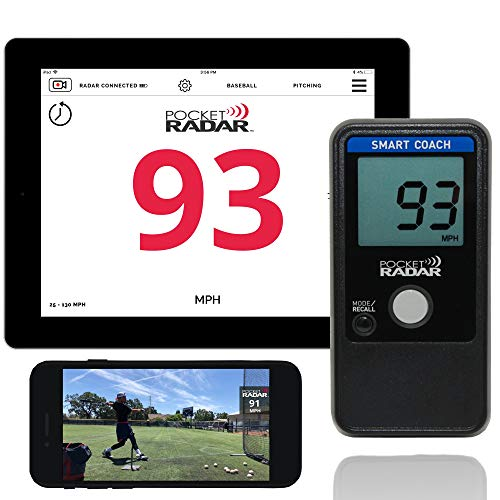 Pocket Radar Smart Coach/Bluetooth App Enabled Radar Gun Allows Remote Display and Speed in Video ()