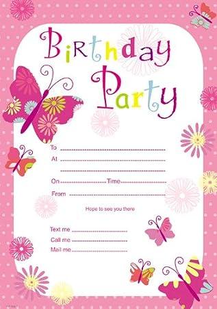 Birthday Girl Invitation Pad 20 Sheets Amazon Co Uk Toys Games