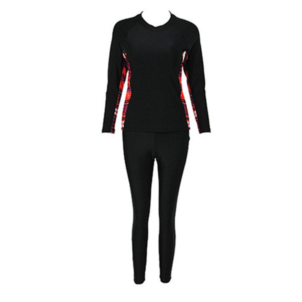 女性の 水着 ダイビングスーツ サーフィン スパ エクササイズ ロングスリーブ ズボン 2セット 水着 に適して 水泳 ウェディング エクササイズ スパ B07F1F94D4 XXL レッド