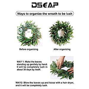 Dseap Artificial Nearly Real Olive Leaf Wreath 2