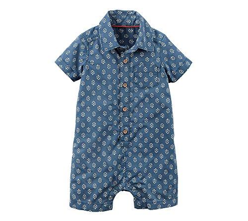 Carter's Baby Boys' Snap Up Poplin Romper 3 - Patterned Poplin Boys Shirts