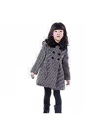 Girls Kids Toddlers Thick Wool Classic Plaid Dress Coat Jacket Windbreaker