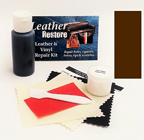 Leather Repair Kit with READY TO USE Color, DARK BROWN (Vinyl Scratch Repair Kit compare prices)