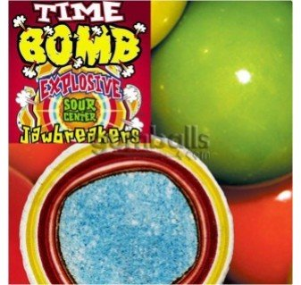 Jawbreakers Sour - Timebomb Jawbreakers Solid Colors, 1LB