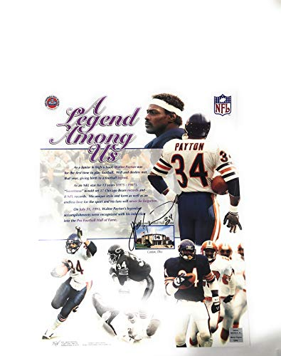 Walter Payton Chicago Bears Signed Autograph SI 16x20 Photo Photograph W Payton Foundation Certified (16x20 Steiner Photo Frame)