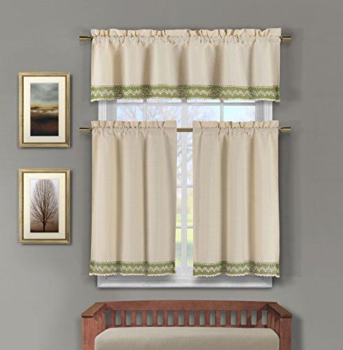 Linen Kitchen Window Curtain Set