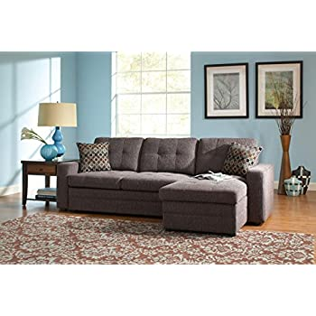 Terrific Amazon Com 1Perfectchoice Gus Sectional Sofa W Pull Out Pabps2019 Chair Design Images Pabps2019Com