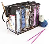 Zuitcase Knitting Bag Organizer, Crochet Tote Bag for Yarn Storage