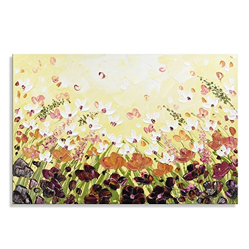 7CANVAS 100% Hand-painted 3D Knife Palette Floral Modern Thi