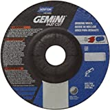 Norton Gemini Fast Cut Depressed Center Abrasive Wheel, Type 27, Aluminum Oxide, 7/8