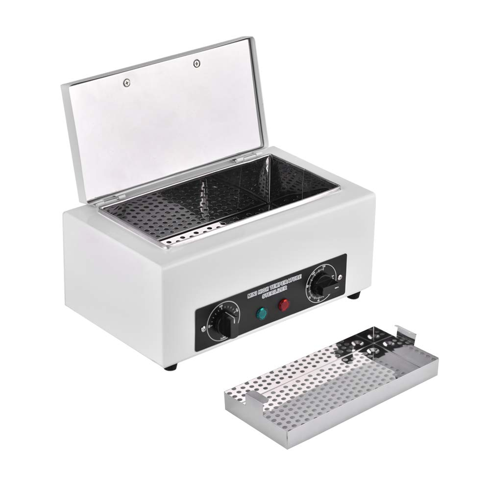 Soiiw 300W 1.5L High Temperature Sterilizer Box Manicure Pedicure SPA Salon Equipment-Tattoo Autoclave Manicure Sterilizer for Beauty Nail Metal Tools NV-210 Type by Soiiw