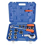 11 Dies Level Professional Aluminum Copper Tube Expander Tool Full Set with Tube Cutter and Deburring Tool, 3/8'' to 1-5/8''