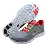 Nike Free Run 3 Cool Grey Red Mens Barefoot Running Shoes 510642-006