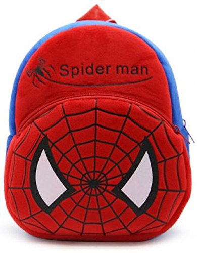 New Cute Plush Spider Man Mini Backpack for Young Students Ages 3-5 Years Old