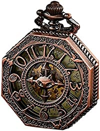 Pocket Watch,Classical Gift,Steampunk Skeleton Mechanical...