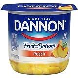 Dannon Fruit on the Bottom Peach Yogurt, 6 Ounce - 12 per case.