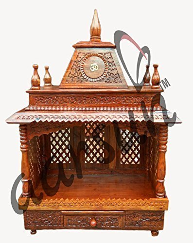 Aarsun Woods Home Temple Wooden Mandapam Pooja Temple