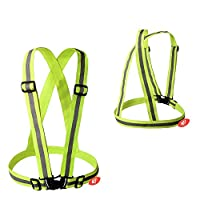 Adjustable Reflective Vest - Essential Running Gear for Your Safety - Best Used to be Seen at Night for Cycling, Walking the Dog - High Visibility Clothing for Men and Women