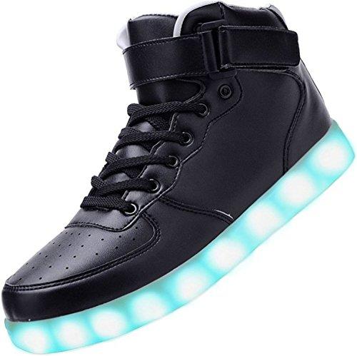 Alla Camminata nero Moda LED Unisex Carica Uomo Luminosi Scarpe USB Piccolo Scarpe Presente noir junglest Donna Sport da da 1 Asciugamano Lampeggianti 7 Colori qAwXUfY1x