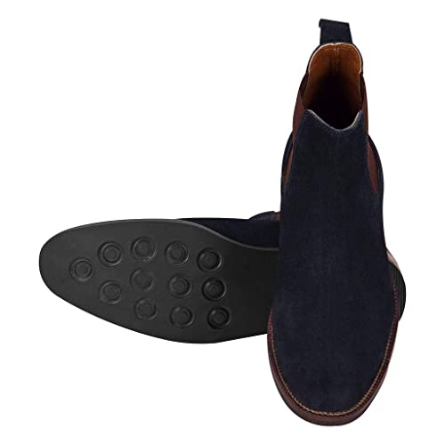 Suede Leather Chelsea Mens Boots Shoes