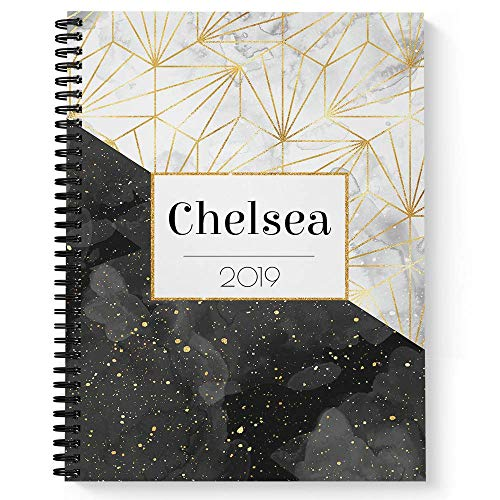 Specks of Gold Personalized Notebook/Journal, Laminated Soft Cover, 120 College Ruled pages, lay flat wire-o spiral. Size: 8.5