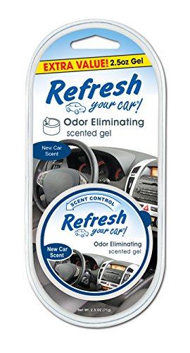 Refresh Your Car! E300881201 Scented Gel Can, 2.5 oz, New Car Scent