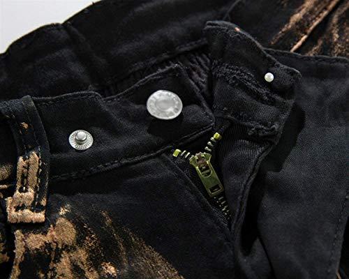 Bronze In Pantaloni Da Regular Moda Ragazzi Gamba Vintage Fit Denim Stretch Uomo Jeans Dritta Classiche A Slim BcwaRq64W