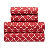 waverly sheets - Traditions by Waverly Framework Crimson 4-Pc. Bed Sheet Set, King, Red