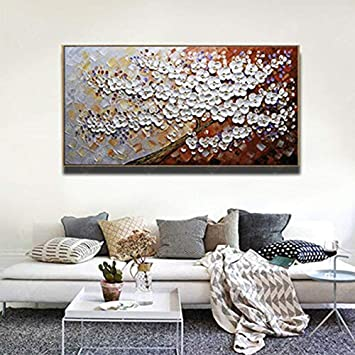 Geiqianjiumai Abstract tree modern oil painting canvas art gift home decoration living room wall art frameless painting 40X80cm