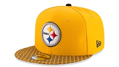 fd734684ac2 New Era Pittsburgh Steelers NFL 2017 Sideline On Field 9Fifty Snapback Hat