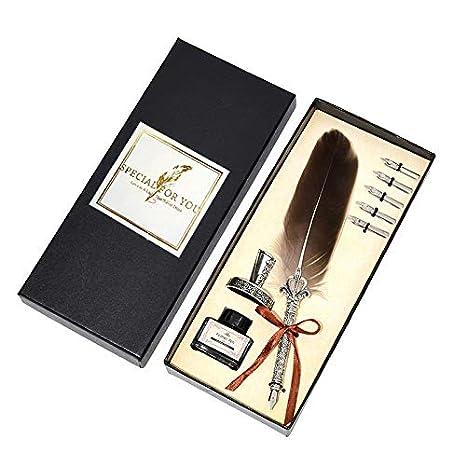 Juego de pluma juego de caligraf/ía con 5 puntas para escribir y pluma de regalo perfecta pluma Caligrapher con pluma Pluma