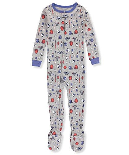 Sports Footed Sleeper (Carter's Boys' 12 Months-5T One Piece Multi Sport Print Cotton Pajamas 4T)