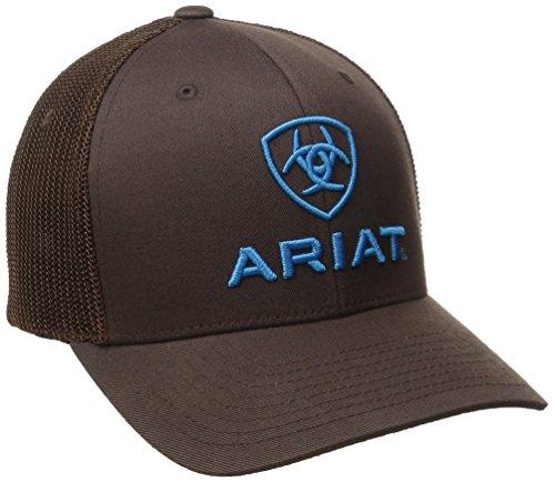 Ariat Mens Brown Blue Half Mesh Hat