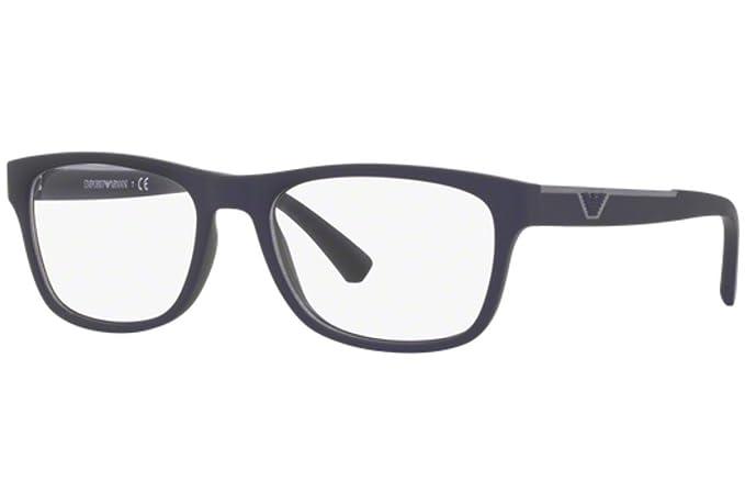 adacff358b8 Emporio Armani EA 3082 Eyeglasses 5065 Blue Rubber 55-17-140  Amazon.co.uk   Clothing