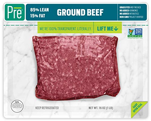 Pre, 85% Lean Ground Beef - 100% Grass-Fed, Grass- Finished, and Pasture-Raised - 16oz. (Tender Grass Fed Meat)