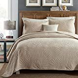 """king size coverlets Quilt Set King, Cotton World Li Premium 3 Piece Oversized Coverlet Set as Bedspread Bed Cover Reversible Luxury Light Weight 106"""" x 98""""/ Pillow Shams 20"""" x 36""""- Wrinkle & Fade Resistant-King/CA King"""