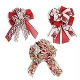 LTDH Christmas Ribbon Bow Christmas Tree Bow