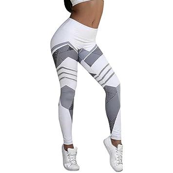 Wensltd Women Sports Fitness Elastic Leggings Gym Yoga Workout Mid Waist Running Pants