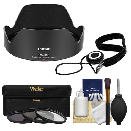 Canon EW-88C Lens Hood for EF 24-70mm f/2.8L II USM with 3 Filter (UV/ND8/CPL) Set + Accessory Kit by Canon (Image #5)