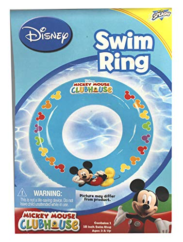 Pool ring Mickey Mouse Colorful Mouse Ear Pattern Blue Colored Inflatable -
