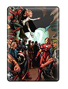 Ipad Air Hard Back With Bumper Silicone Gel Tpu Case Cover Marvel