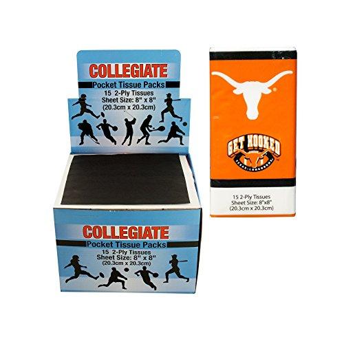 Kole Imports PB653 Texas Longhorns Pocket Tissues Counter...