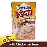 Hartz Delectables Stew Lickable Wet Cat Treats - Chicken, Tuna & Whitefish,1.4 oz, pack of 12