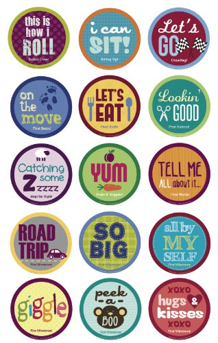 Belly Banter Baby MileStone Stickers For Girls and Boys - Baby By Month Growth Stickers for Clothing and Baby Scrapbook Keepsakes Stickers - Great Baby Shower Gift and Baby Room Stickers