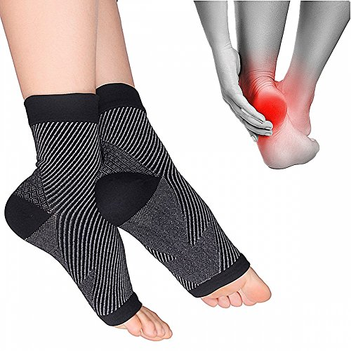 Plantar Fasciitis Compression sleeves – Better than Night Splint Socks, Shoe, Insoles, Orthotics for Foot, Ankle Pain Relief for men, women, nurses, maternity, pregnancy, running & heel spur