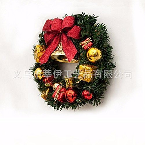 Christmas Garland for Stairs fireplaces Christmas Garland Decoration Xmas Festive Wreath Garland with Christmas wreath Christmas tree red cane,60cm