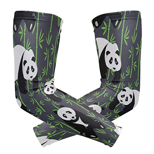 Cute Pandas Sports Compression/UV Protection/Dry-Fast Breathable/Warmth for Men Women Cycling/Golf/Basketball 1 Pair ()