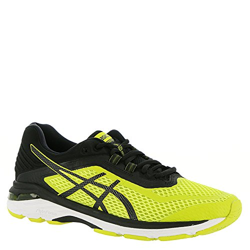 ASICS GT-2000 6 Men's Running Shoe, Sulphur Spring/Black/White, 11 M US