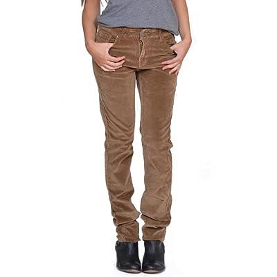 Pantalon en Velours Côtelé Slim/Skinny/Stretch - Marron Clair 36